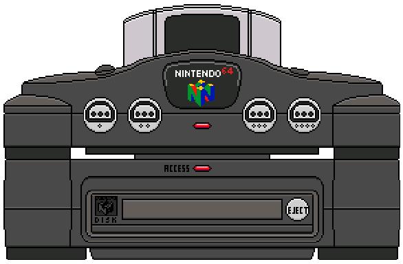 Nintendo 64 64 DD Pixel Art Xtreme Retro