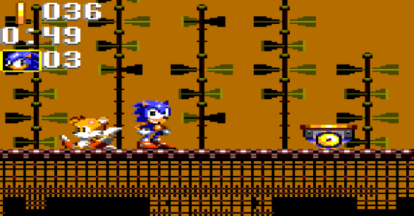 Sonic Triple Trouble Game Gear Sunset Park Zone