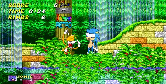 Sonic the Hedgehog 2 Aquatic Ruin Pixel Art
