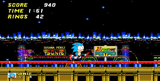 Sonic the Hedgehog 2 Casino Night Pixel Art