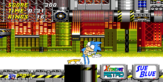 Sonic the Hedgehog 2 Chemical Plant Pixel Art