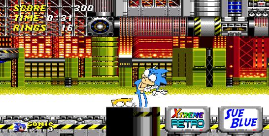 Sonic the Hedgehog 2 Chemical Plant Pixel Art