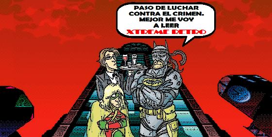 Batman & Robin Metal Gear Solid Snake Liquid Otacon Pixel Art Xtreme Retro