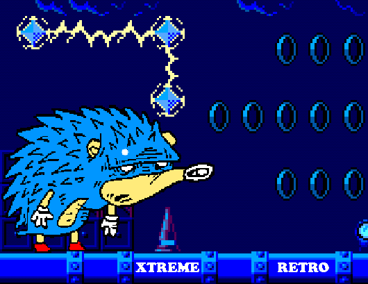 Blue Hedgehog Sonic 1 Master System Pixel Art Xtreme Retro