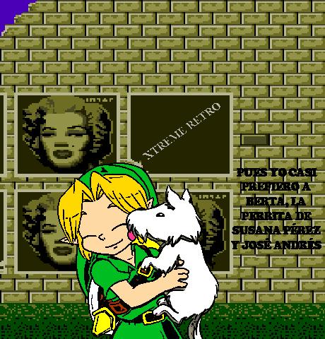 Link Legend of Zelda Street Pixel Art 2