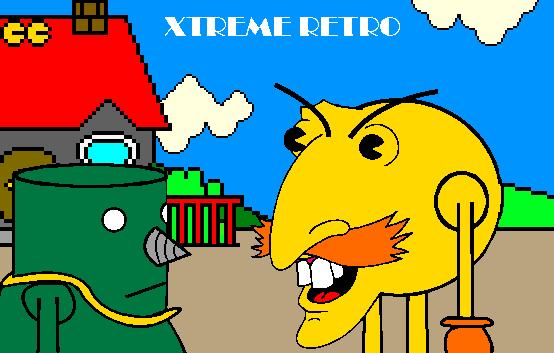 Pacman Robotnik Pixel Art Xtreme Retro