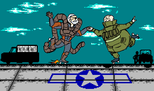 Solidus Snake Fatman Metal Gear Solid 2 MGS Pixel Art Xtreme Retro
