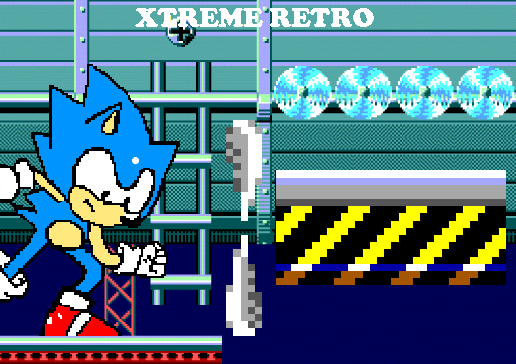 Sonic 1 Game Gear Master System Sky Base Pixel Art Xtreme Retro
