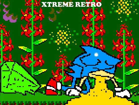 Sonic 1 Master System Game Gear Jungle Zone Pixel Art Xtreme Retro