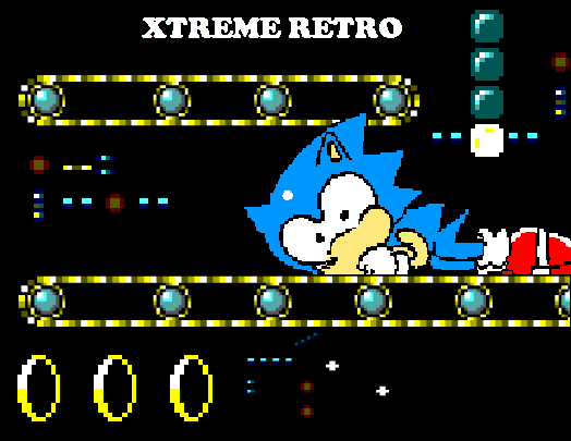 Sonic 1 Master System Game Gear Scrap Brain Zone Pixel Art Xtreme Retro