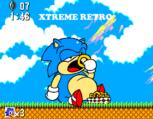 Sonic 1 Master System Pixel Art Game Gear Xtreme Retro Bridge Zone