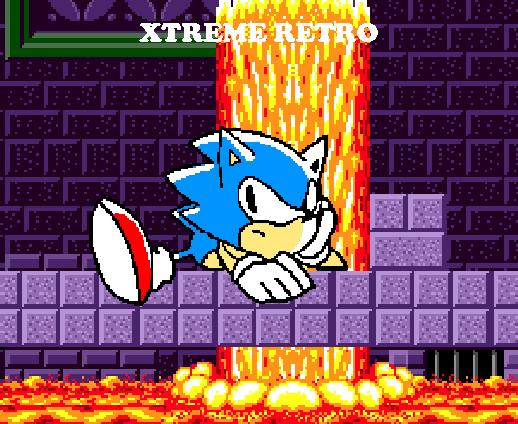 Sonic 1 Mega Drive Sega Genesis Pixel Art Marble Zone Xtreme Retro