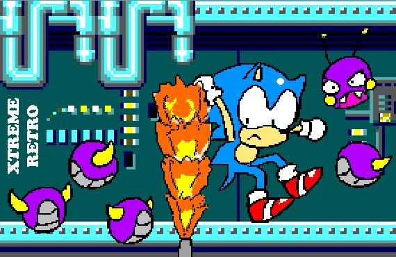 Sonic 1 Scrap Brain Master System Pixel Art Xtreme Retro Game Gear