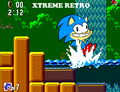 Sonic Master System Game Gear Pixel Art Jungle Zone Xtreme Retro Jump