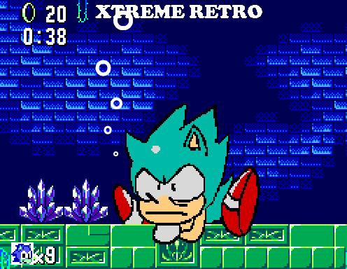 Sonic Master System Pixel Art Xtreme Retro Labyrinth Zone