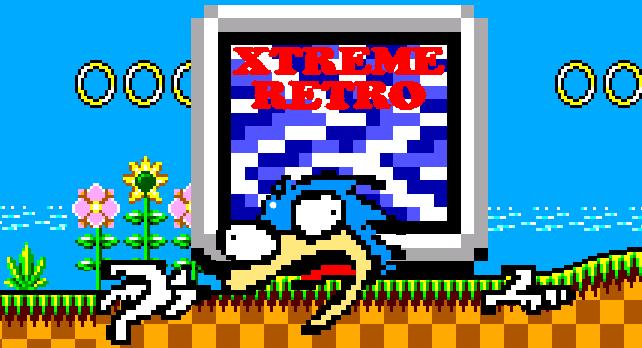 Sonic the Hedgehog Pixel Art Master System Xtreme Retro Header
