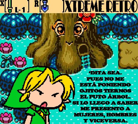 The Legend of Zelda Oracle of Seasons Pixel Art Xtreme Retro Deku Tree