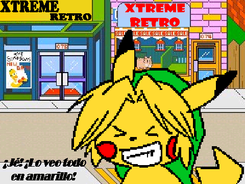 Linkachu Pixel Art Springfield Xtreme Retro