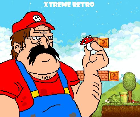 Mario Bros Mushroom Kingdom Pixel Art Xtreme Retro
