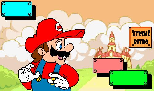 Mario World Pixel Art Xtreme Retro GBA