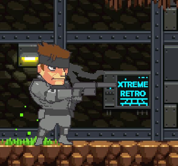 Metal Gear Solid PSX Solid Snake Pixel Art Xtreme Retro Konami Hideo Kojima