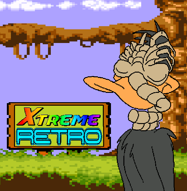 Daffy Duck Alien Pixel Art Header
