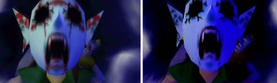 Es bien sabido que al principio se iba a colocar sangre en las transformaciones de Link, pero esto se cambio ya que hubiese sido de clasificación