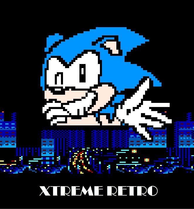 Sonic 8 bits Pixel Art Master System Streets of Rage City Xtreme Retro