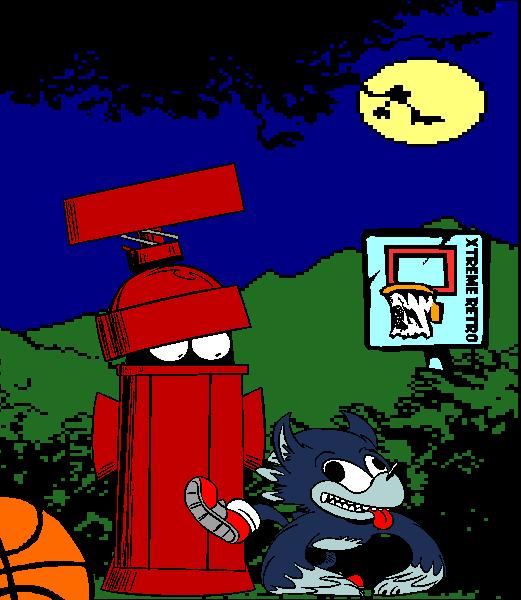 Sonic Werehog 3 Pixel Art