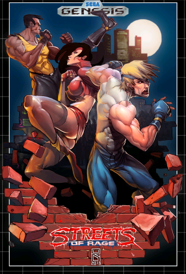 Streets of Rage 1 Cover Art