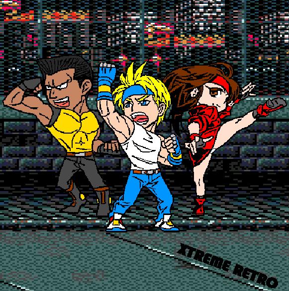 Streets of Rage Bare Knuckle Sega Genesis Mega Drive Pixel Art