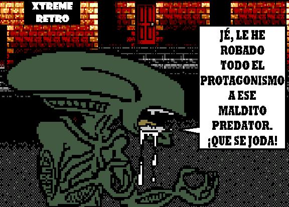 Alien VS Predator Pixel Art Master System