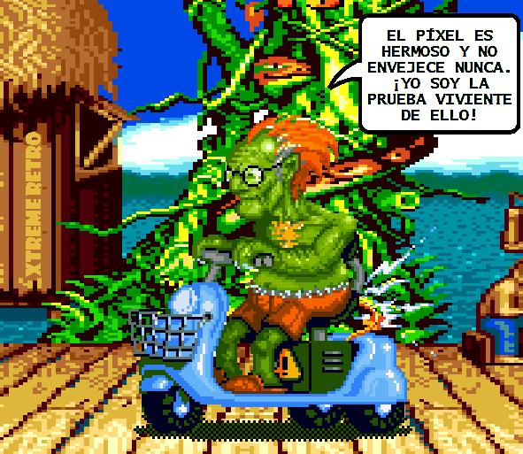 Blanka Street Fighter Pixel Art Xtreme Retro Funny