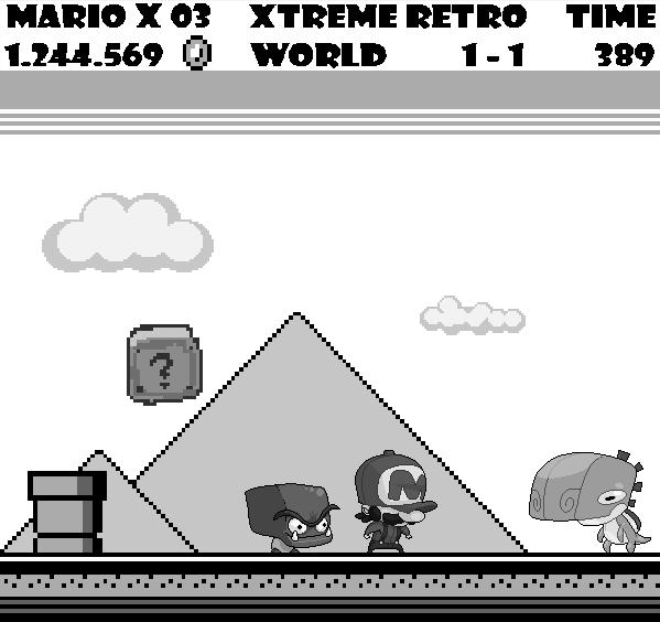 Mario Land Pixel Art Game Boy Xtreme Retro