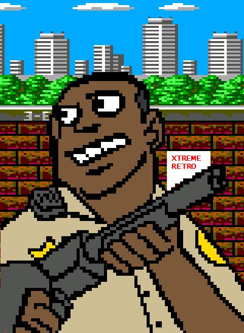 Predator 2 Sega Genesis Master System Pixel Art