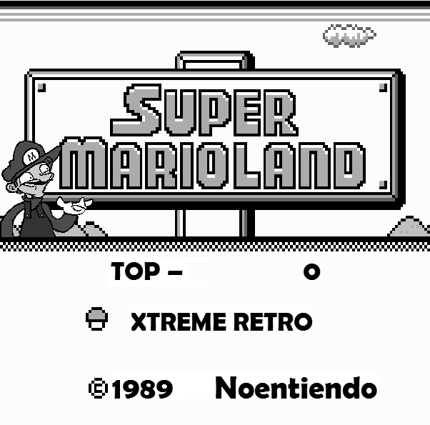 Super Mario Land Game Boy Header Pixel Art Xtreme Retro