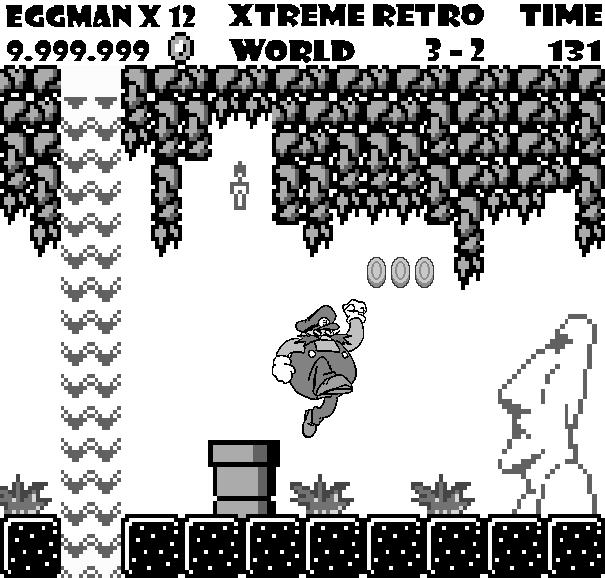 Super Mario Land Game Boy Pixel Art Eggman Robotnik Xtreme Retro