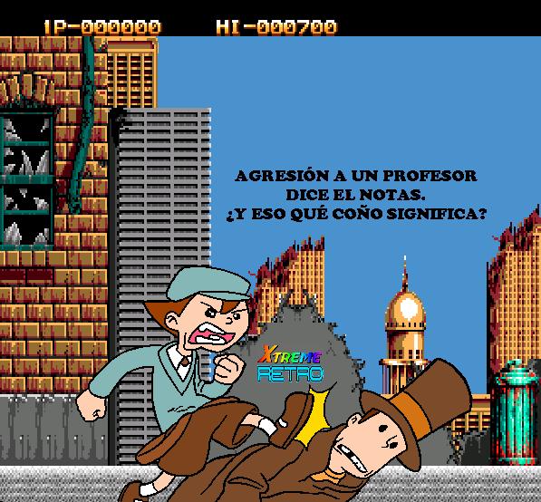 Two Crude Dudes Profesor Layton Pixel Art