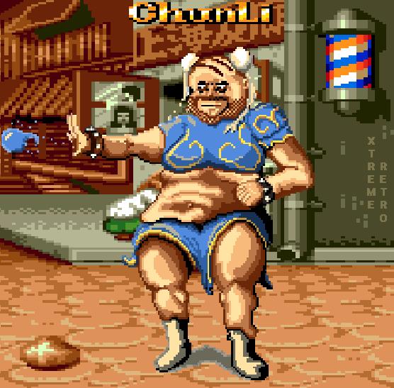Chun Li Pixel Art Xtreme Retro