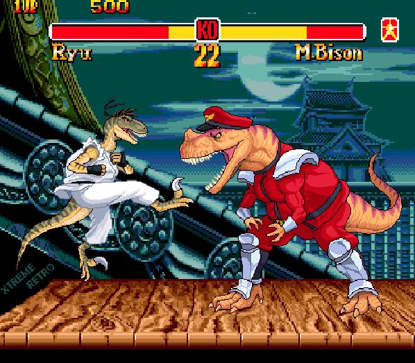 Street Fighter II Pixel Art