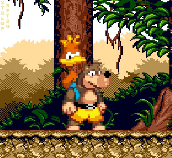 Banjo Kazooie Pixel Art Jungle