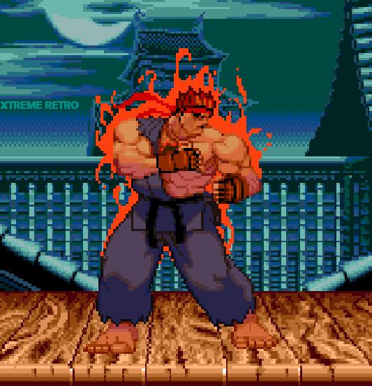 Evil Ryu Pixel Art Street Fighter Capcom