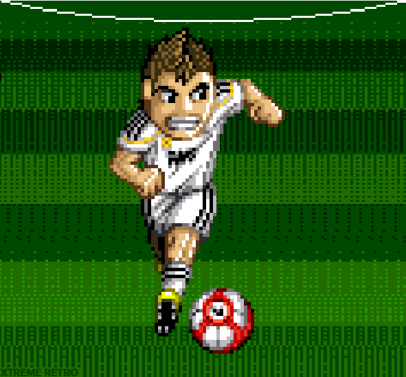 Football player Pixel Art 16 bits Xtreme Retro
