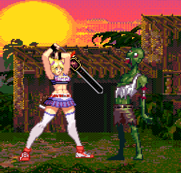 Lollypop Chainsaw Pixel Art PS3 XBOX 360