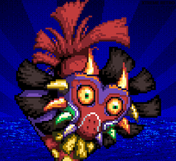 Skull Kid Majoras Mask N64 Pixel Art Xtreme Retro