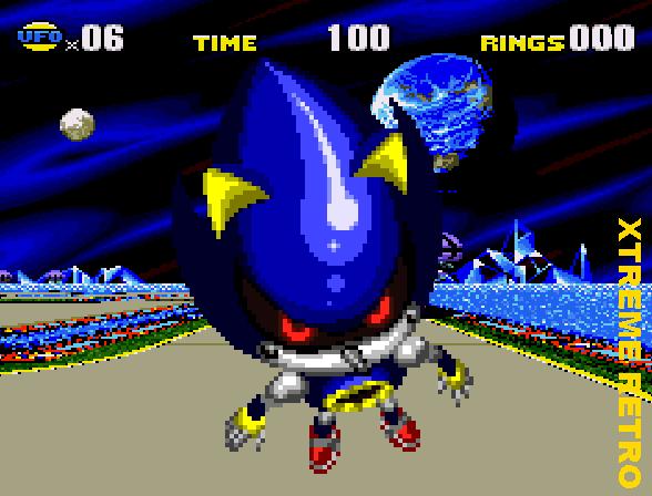 Sonic CD Bonus Stage Metal Sonic Pixel