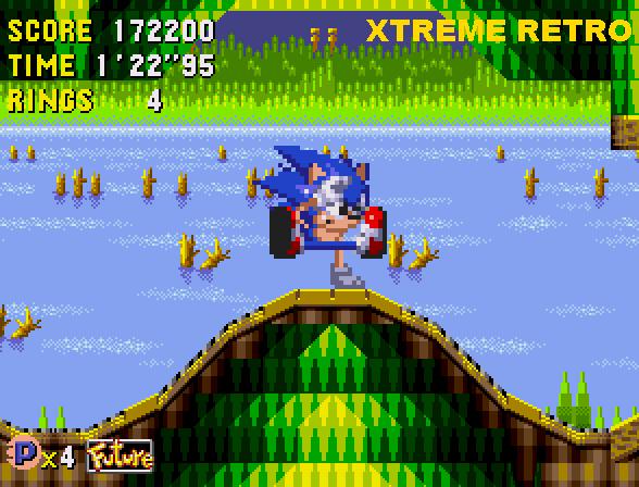 Sonic CD Quart Quadrant Past Zone