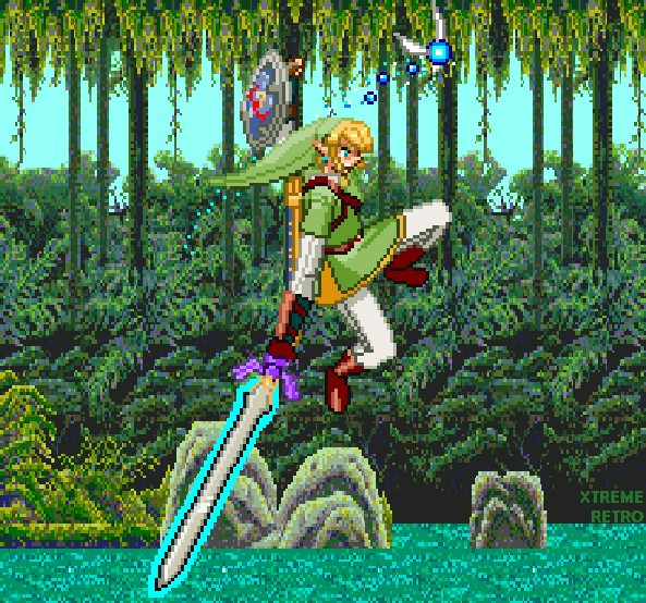 The Legend of Zelda Twilight Princess Forest Pixel 16 bits