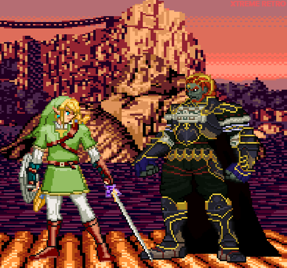 The Legend of Zelda Twilight Princess Link VS Ganondorf Pixel