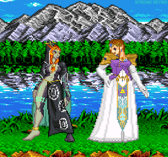 The Legend of Zelda Twilight Princess Zelda Midna Pixel